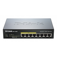 D-Link DGS-1008P 8 Port Desktop Switch - 1Gbps  Unmanaged