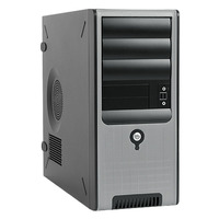 In Win C583 Mid Tower - ATX - 400W Gold PSU - Black/Silver