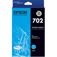 702 Cyan Ink Cartridge - EPSON WORKFORCE PRO WF 3720 EPSON WORKFORCE PRO WF 3725