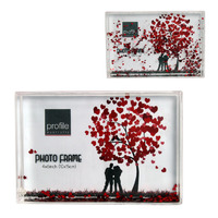 PHOTO WATER FRAME PROFILE SCATTERS RED HEARTS(EACH)