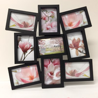 FRAME PHOTO PROFILE 9 X 4X6 GALLERY BLACK(EACH)