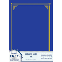 DOCUMENT COVERS GEO AWARD NAVY BLUE PK6(PKT) - DOCUMENT COVERS GEO AWARD NAVY BLUE PK6
