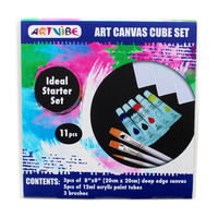 3D CANVAS BLOCK ARTVIBE INCLUDES CANVAS/PAINTS/BRUSHES(EACH)