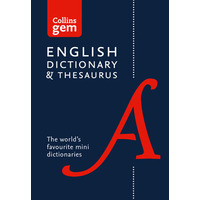 DICTIONARY & THESAURUS COLLINS GEM 6TH EDITION(EACH) - DICTIONARY & THESAURUS COLLINS GEM 6TH EDITION