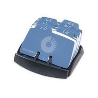 BUSINESS CARD FILE ROLODEX ROTARY 125 CAPACITY PETITE OPEN(EACH)