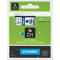 LABEL TAPE DYMO D1 9MMX7M BLUE ON WHITE(EACH)