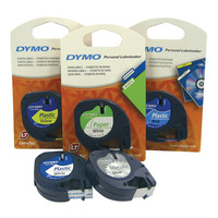 LABEL TAPE DYMO LETRA-TAG PLASTIC ACID GREEN(EACH)