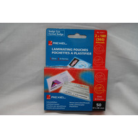 LAMINATING POUCHES REXEL BADGE CARD 67X98MM 50'S 360 MICRON 2X180(EACH) - LAMINATING POUCHES REXEL BADGE CARD 67X98MM 50'S 360 MICRON 2X180