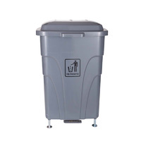 RUBBISH BIN CLEANLINK 70L HEAVY DUTY WITH PEDAL LID GREY(EACH)