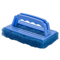 SCOURER CLEANLINK 15X9CM HEAVY DUTY WITH HANDLE BLUE(EACH)