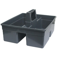UTILITY CARRY BASKET CLEANLINK 38X33X17CM PLASTIC GREY(EACH)