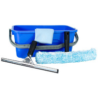 WINDOW CLEANING KIT CLEANLINK WITH BUCKET CLOTH SQUEEGEE & WASHER(EACH)