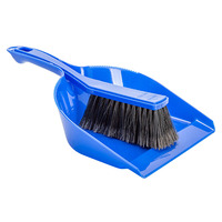 BROOM CLEANLINK WITH DUSTPAN BLUE(EACH)