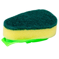 DISH WAND CLEANLINK REPLACEMENT SCOURER PADS GREEN/YELLOW PK3(EACH)
