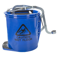 MOP BUCKET CLEANLINK 16L HEAVY DUTY METAL WRINGER BLUE(EACH) - MOP BUCKET CLEANLINK 16L HEAVY DUTY METAL WRINGER BLUE