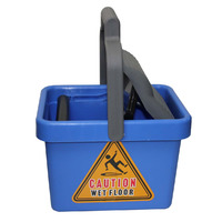 MOP BUCKET CLEANLINK 9L PLASTIC WRINGER BLUE(EACH)