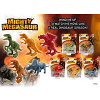 TOY DRAGON-I MIGHTY MEGASUARUS WIND UP DINO ASST DESIGNS(EACH)