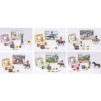 TOY HORSE & STABLE PLAY SET ASST DESIGN(EACH)