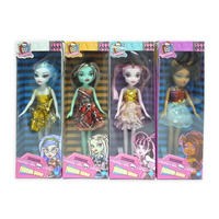 TOY MONSTER GIRL DOLL 23CM ASSORTED(EACH)
