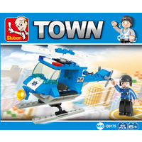 TOY BUILDING BLOCKS SLUBAN TOWN POLICE HELICOPTER 85 PCE(EACH)