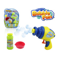 TOY BUBBLE GUN SPACE WITH 60 ML SOLUTION NO BATTERIES REQUIRED(EACH)
