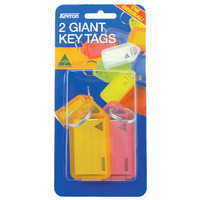 KEY TAGS KEVRON GIANT 2 PACK ASSORTED(EACH) - KEY TAGS KEVRON GIANT 2 PACK ASSORTED