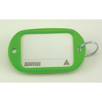 KEY TAGS KEVRON JUMBO LIGHT GREEN PK12(EACH) - KEY TAGS KEVRON JUMBO LIGHT GREEN PK12
