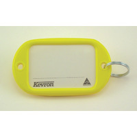 KEY TAGS KEVRON JUMBO YELLOW PK12(EACH) - KEY TAGS KEVRON JUMBO YELLOW PK12