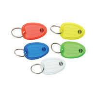KEY TAGS MARBIG RED PK10(PKT) - KEY TAGS MARBIG RED PK10