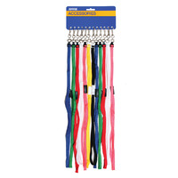 LANYARDS KEVRON BREAKAWAY ASSORTED COLOURS CARD 12(EACH)