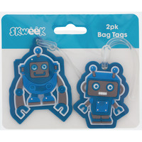 BAG TAGS SKWEEK RUBBER BLUE PK2(EACH) - BAG TAGS SKWEEK RUBBER BLUE PK2