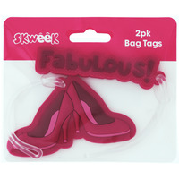 BAG TAGS SKWEEK RUBBER PINK PK2(EACH) - BAG TAGS SKWEEK RUBBER PINK PK2