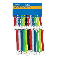 CARD HOLDER KEVRON EXPANDING COIL ASSORTED COLOURS(PK12)