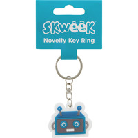 KEY RING SKWEEK NOVELTY RUBBER BLUE(EACH) - KEY RING SKWEEK NOVELTY RUBBER BLUE