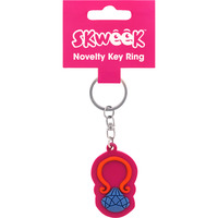 KEY RING SKWEEK NOVELTY RUBBER PINK(EACH) - KEY RING SKWEEK NOVELTY RUBBER PINK