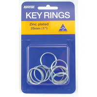 KEY RINGS KEVRON 25MM ZINC PLATED PK10(PKT) - KEY RINGS KEVRON 25MM ZINC PLATED PK10