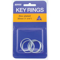 KEY RINGS KEVRON 30MM ZINC PLATED PK5(PKT) - KEY RINGS KEVRON 30MM ZINC PLATED PK5