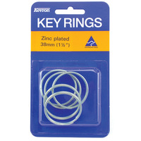 KEY RINGS KEVRON 38MM ZINC PLATED PK5(PKT) - KEY RINGS KEVRON 38MM ZINC PLATED PK5