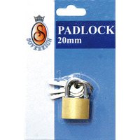 PADLOCKS BRASS SOVEREIGN 20MM B/CRD(EACH) - PADLOCKS BRASS SOVEREIGN 20MM B/CRD