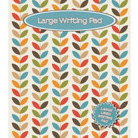 WRITING PAD OZCORP LARGE PAD LEAVES PATTERN 50 SHEETS(EACH)