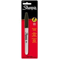 MARKER SANFORD SHARPIE FINE BLACK 1.0MM HANGSELL(EACH)