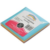 CRAFT PAPER RAINBOW SQUARES 120'S MATT D/SIDED 127MM(EACH)
