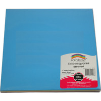 CRAFT PAPER RAINBOW SQUARES 120'S MATT D/SIDED 254MM(EACH)