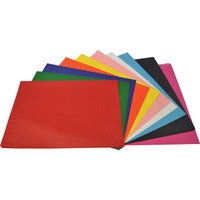 TISSUE PAPER RAINBOW 17GSM 500MMX750MM ACID FREE ASSORTED(PK100)