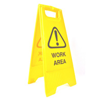 SAFETY SIGN CLEANLINK 32X31X65CM WORK AREA YELLOW(EACH)