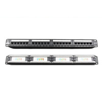 24 Port Cat5E Patch Panel Rack Mount - LinkBasic 24 Port Cat5E Patch Panel Rack Mount