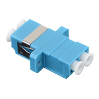 Fibre Optic Adaptor LC Single-mode Duplex Coupler (Pack of 5) - LinkBasic Fibre Optic Adaptor LC Single-mode Duplex Coupler (Pack of 5)