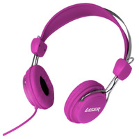 Laser Kids 3.5mm Headphones - Pink