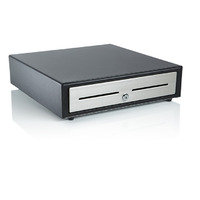 Black Metal Compact Cash Drawer with U.S. till - Black Metal Compact Cash Drawer with U.S. till