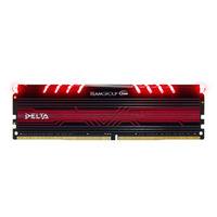 Team Delta 8GB DDR4 - Red - 1x8GB DIMM 2400MHz CL15 1.2V
